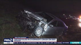 Driver dies after Ford Mustang bursts into flames on Fremont highway