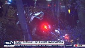 One person killed in Martinez crash, cause under investigation