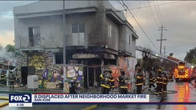 8 displaced after San Jose neighborhood market catches fire