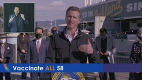 Gov. Newsom lays out plan to open mass vaccination site at Oakland Coliseum
