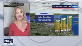 Weather forecast: Sunny, beautiful skies Sunday with chilly temps