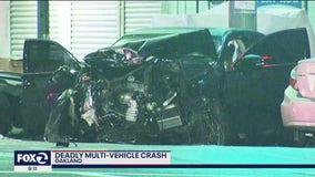 Camaro driver, 23, dies in Oakland multi-vehicle crash