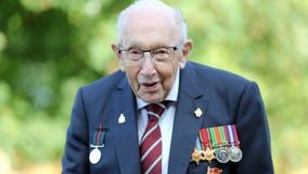 'Captain Tom,' 100-year-old veteran who raised millions for COVID relief, hospitalized with virus