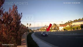 Tiger Woods: Surveillance video shows golfer driving minutes before Rolling Hills Estates crash