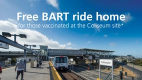 BART to offer free rides home for those vaccinated at Coliseum COVID vaccine site