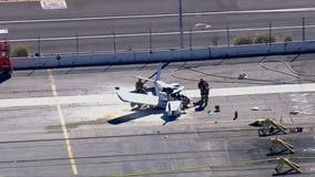 Pilot killed after small plane crashes into big rig at Port of Los Angeles