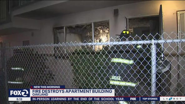 Oakland firefighters extinguish early morning apartment fire