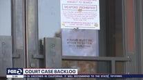 Backlog of court cases