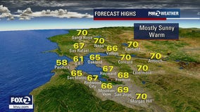 Plenty of sunshine with temps in 70s for Tuesday