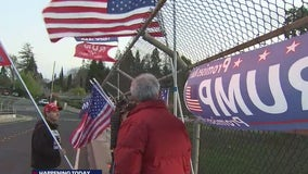 Lafayette to determine whether Trump flags on overpass must come down