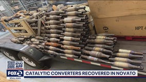 Hundreds of catalytic converters recovered in Novato