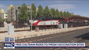 Caltrain offering free rides to vaccination sites starting Monday