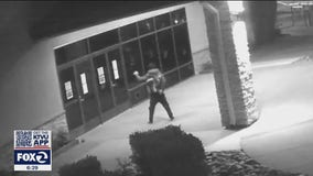 Suspect seen of video hurling rocks into Antioch church