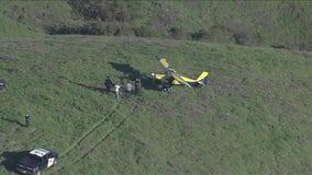 Small plane makes unscheduled landing on Lafayette hillside
