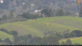 Small plane makes emergency landing on hillside near Lafayette Reservoir