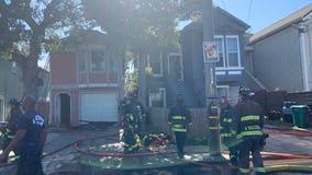 2-alarm fire burns 2 West Oakland Victorian homes