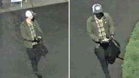 San Mateo police looking to ID suspect stealing wood from park property