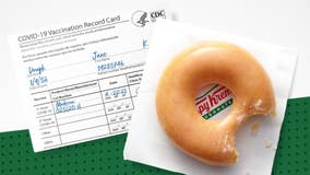 Krispy Kreme offering free doughnut a day to anyone with COVID-19 vaccination for rest of 2021