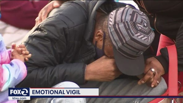 Emotional vigil for Oakland father shot, killed in front of children at neighborhood park