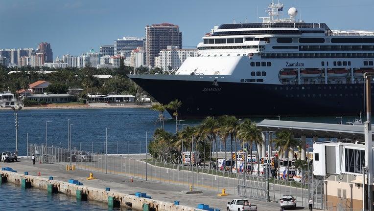3986a84d-Zaandam And Rotterdam Cruise Ships Carrying Coronavirus Patients Dock In Florida