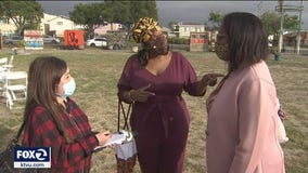 Community members gather in East Oakland to celebrate and reflect on the Chauvin verdict