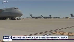 Travis Air Force Base sending supplies to India amid COVID-19 case surge