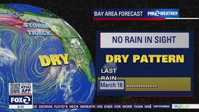 No rain in sight, dry pattern