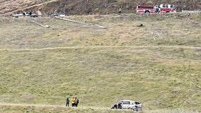 Passenger dies, driver ejected when minivan went through guardrail on Altamont Pass