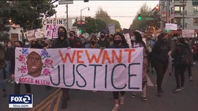 Protesters march through San Francisco's Mission to denounce recent police shootings