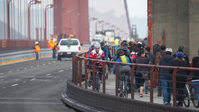 Construction on suicide barrier to temporarily narrow Golden Gate Bridge sidewalk