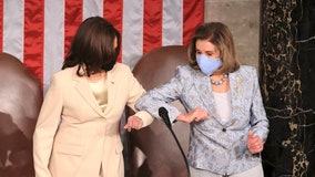 'It's about time': Harris, Pelosi make history flanking Biden during address to Congress