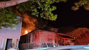 Oakland firefighters extinguish early morning house fire