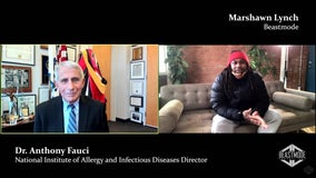 Marshawn Lynch, Dr. Fauci discuss vaccine hesitancy