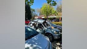 Vehicle explosion at Santa Rosa shopping center