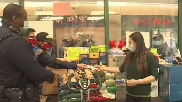Air horns distributed in Oakland's Chinatown to help keep community members safe