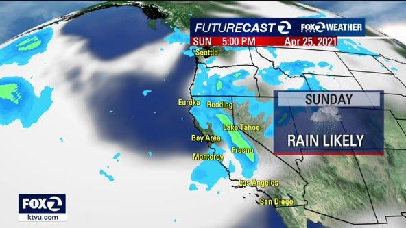 Much-needed Bay Area rain forecast for Sunday