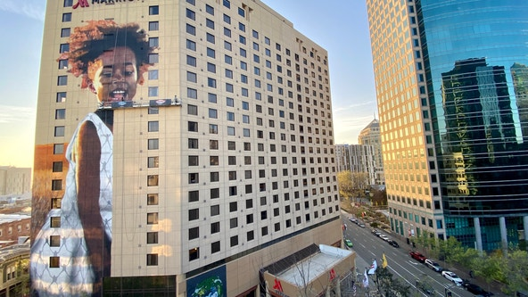 With focus on hunger, tallest mural in Oakland to be completed Thursday