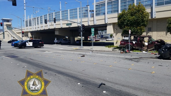 San Bruno police arrest man for hit and run using stolen pickup truck