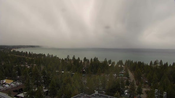 Up to a foot of new snow atop mountains around Lake Tahoe