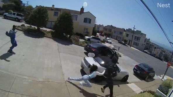 Family visiting San Francisco chases car burglars, two injured