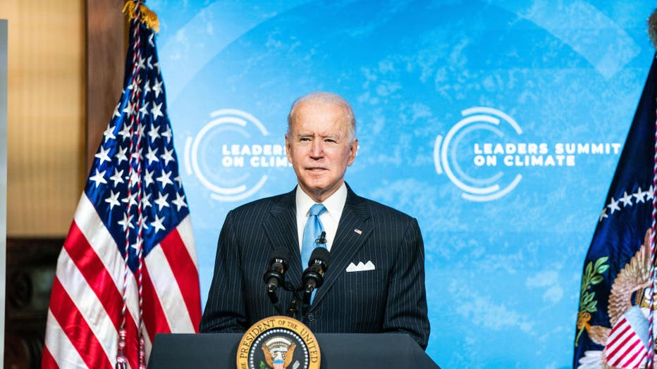 President Biden And Vice President Harris Participate In Virtual Leaders Summit On Climate