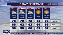 Breezy, cooler, drizzle ahead