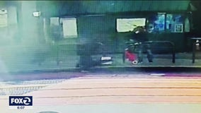 Surveillance video shows moment suspect stabbed Asian women waiting at SF bus stop