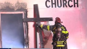Suspect in custody after fire at Concord church breaks out 2nd time in less than a week
