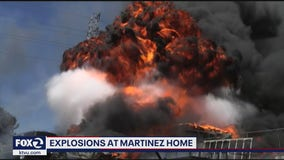 Fireball destroys home in Martinez, frightens nearby residents