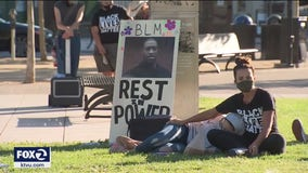 Woman who face pig's blood vandalism charges organize George Floyd vigil in Santa Rosa