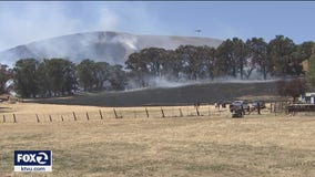 WIldfires break out around the Bay Area during Red Flag conditions