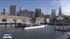 Zero-emission, hydrogen-powered catamaran visits San Francisco's Pier 9
