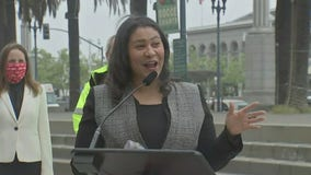 Mayor London Breed celebrates the return of the F-Line and Muni Metro service