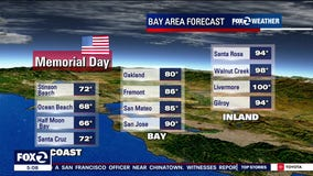 Hot temps inland for Memorial Day